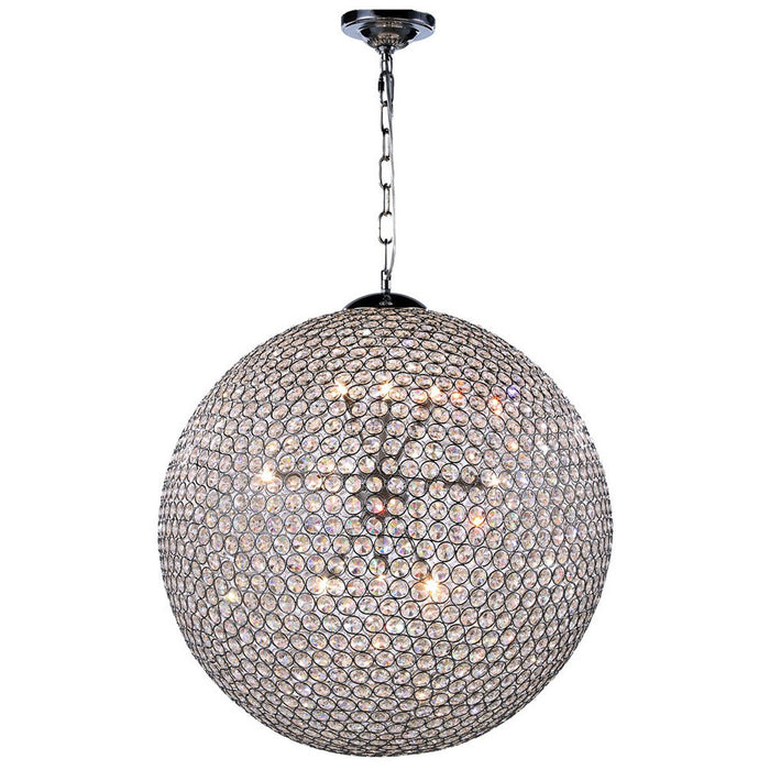 Elegant Lighting Cabaret 12-Light Chrome Pendant