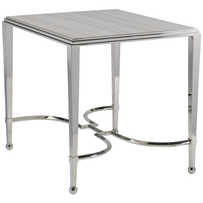 Artistica Home Sangiovese End Table with Marble Top