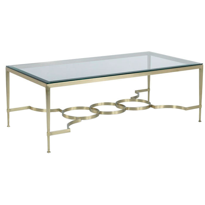 Woodbridge Furniture Brass Cocktail Table