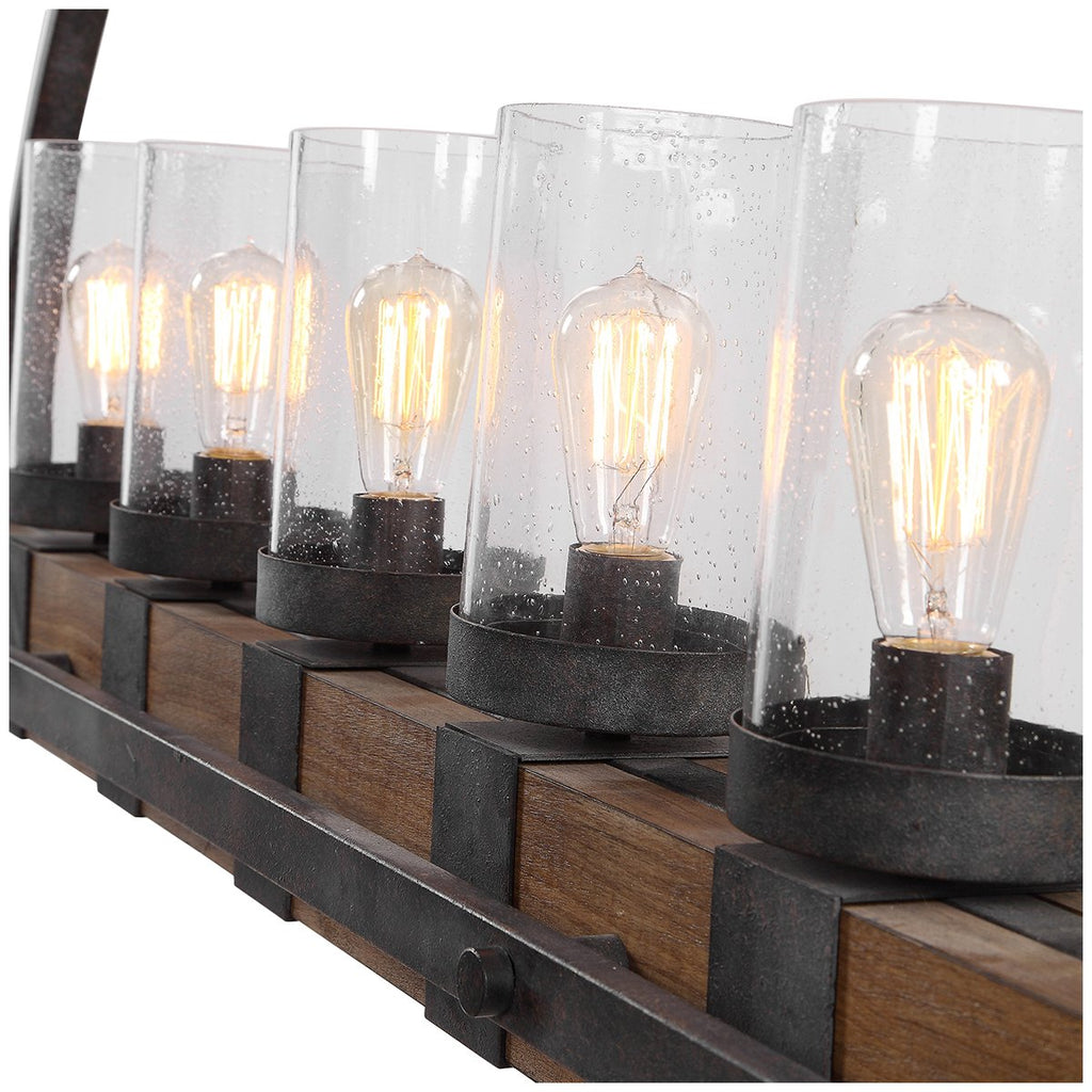Uttermost Atwood 5 Light Rustic Linear Chandelier