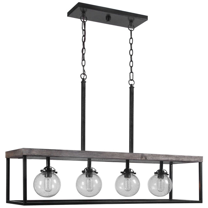 Uttermost Pearsall 4-Light Industrial Island Light