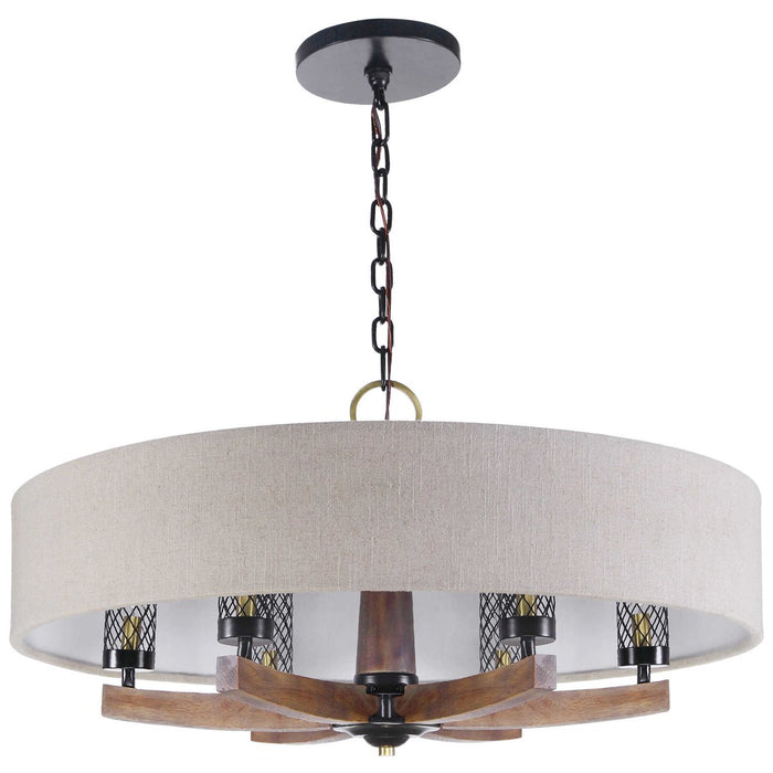 Uttermost Woodall 6-Light Drum Chandelier