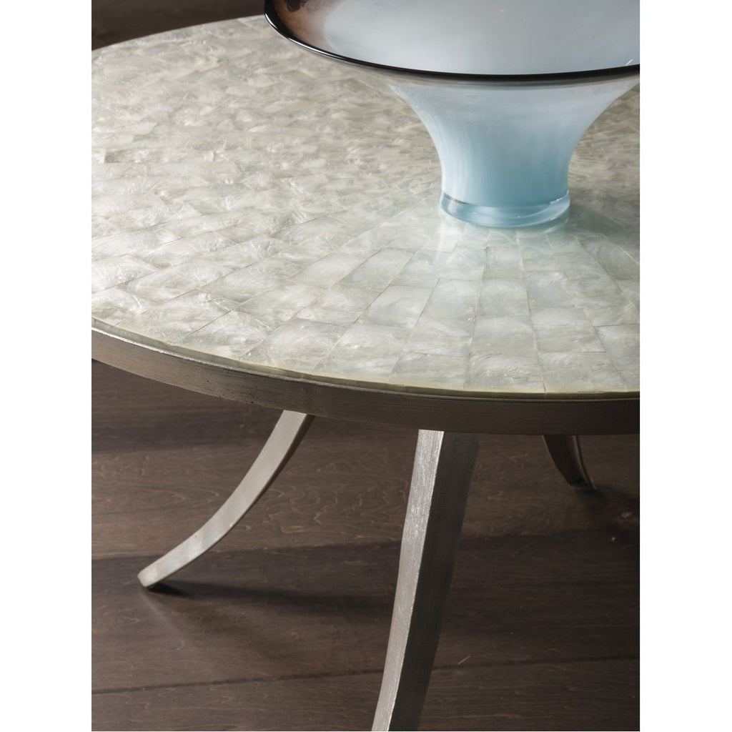 Artistica Home Capiz Round Cocktail Table