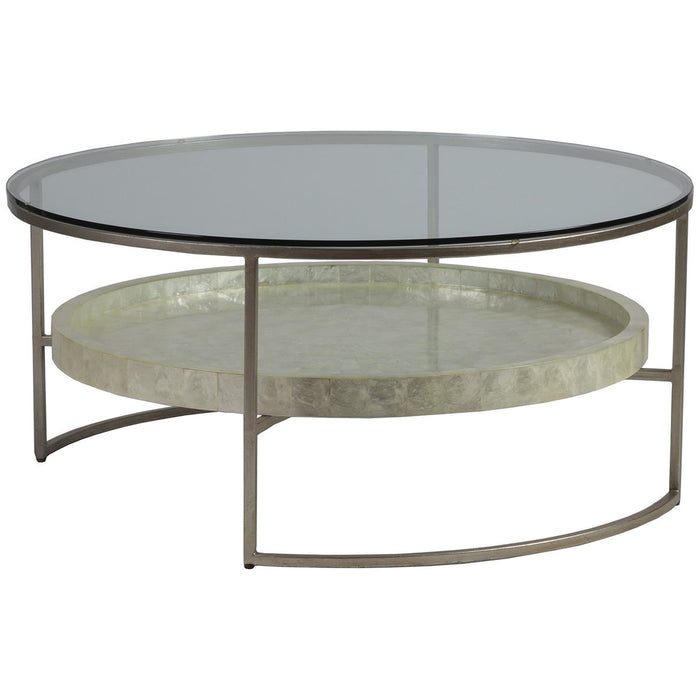 Artistica Home Cumulus Capiz Round Cocktail Table 01-2156-943C
