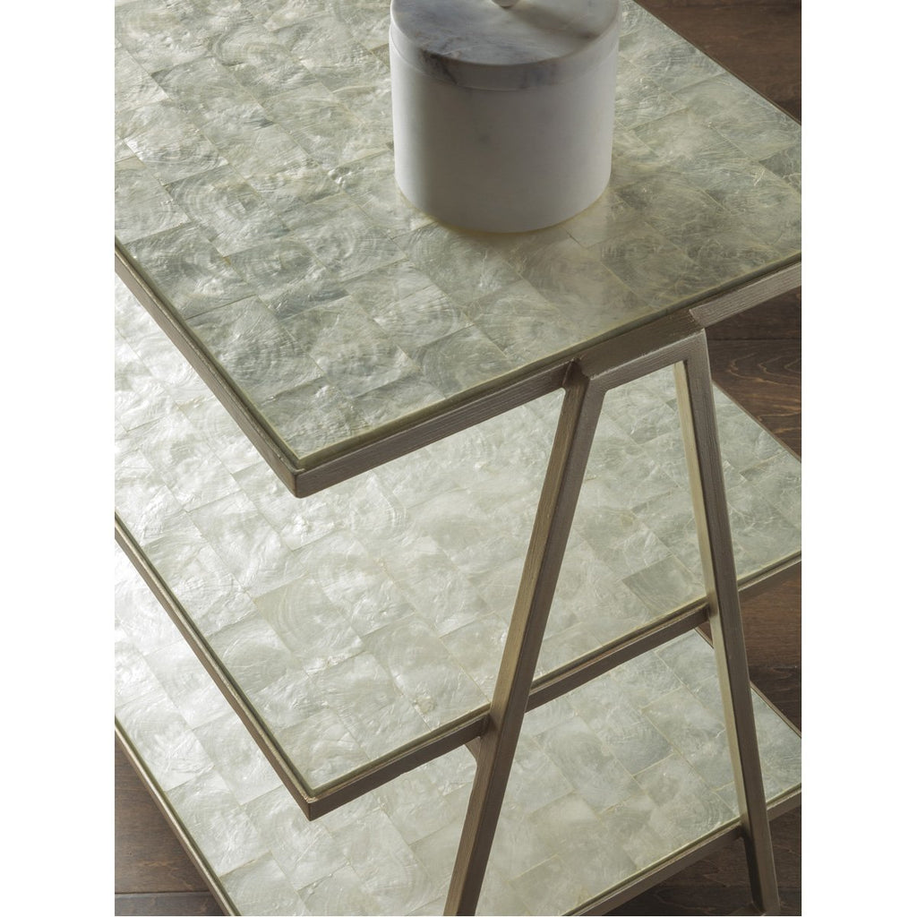 Artistica Home Cumulus Capiz Triangular Tier Table