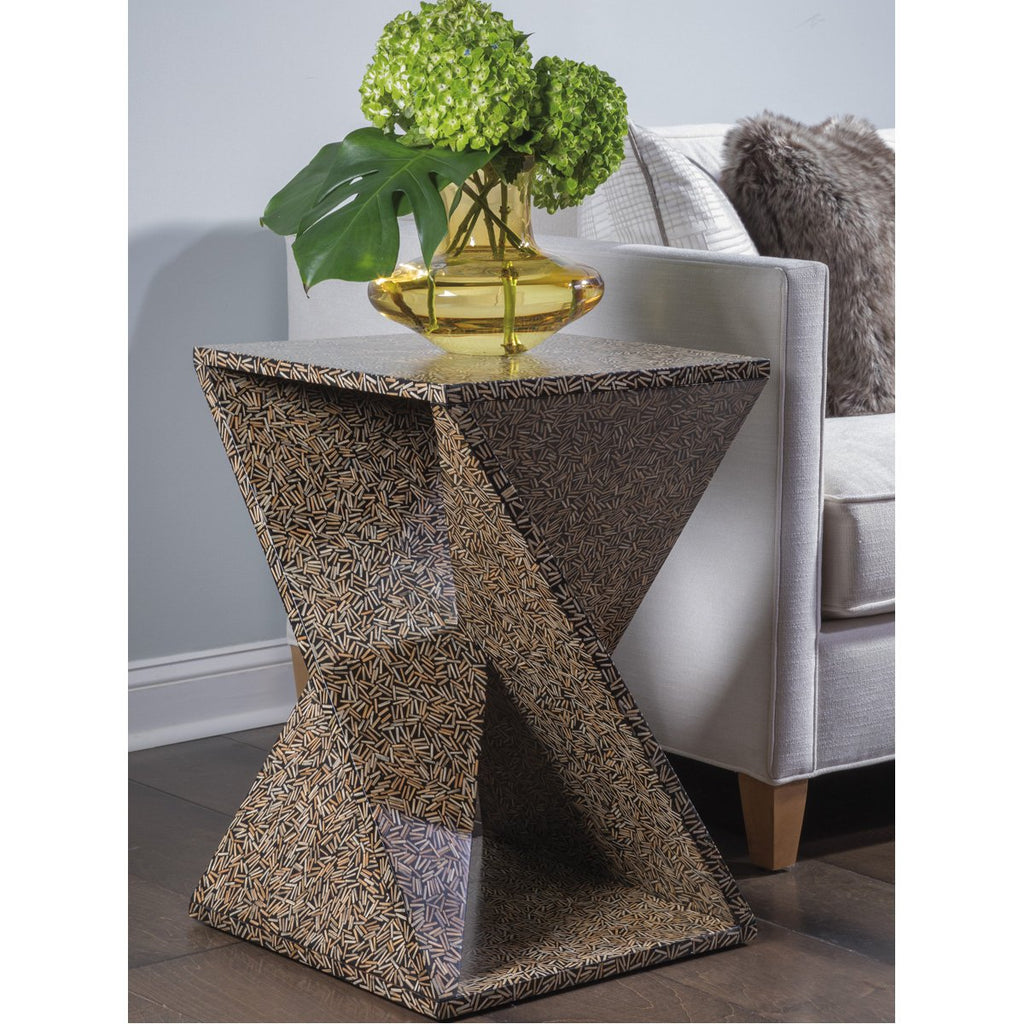 Artistica Home Ardor Rattan Cluster Accent Table