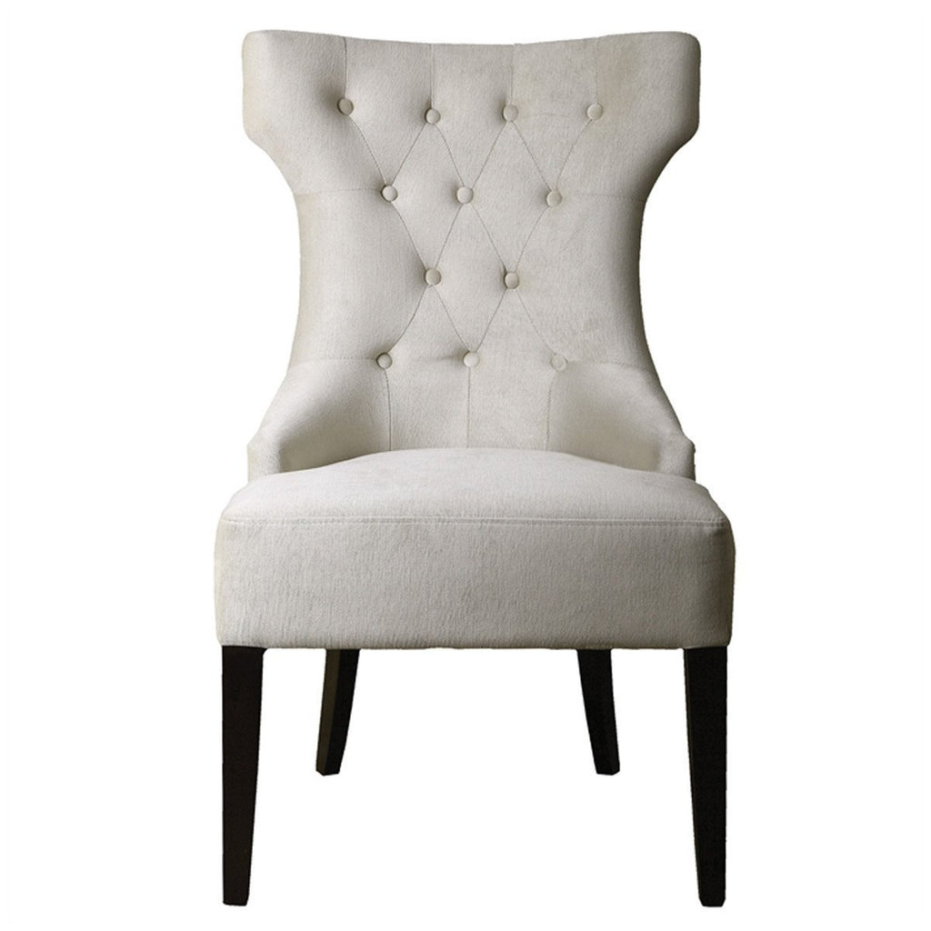 Uttermost Arlette Antique White Wing Chair. Next