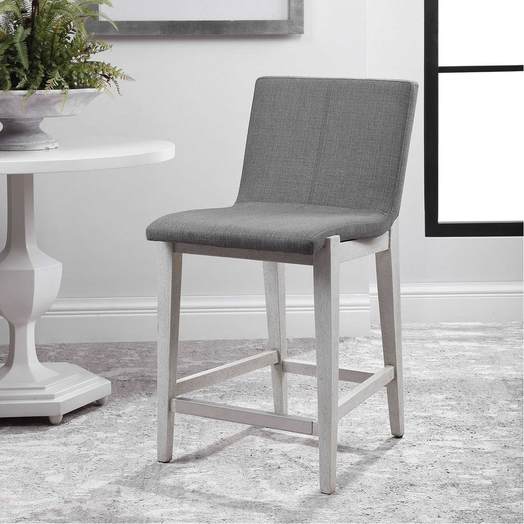Uttermost Brazos Gray Counter Stool