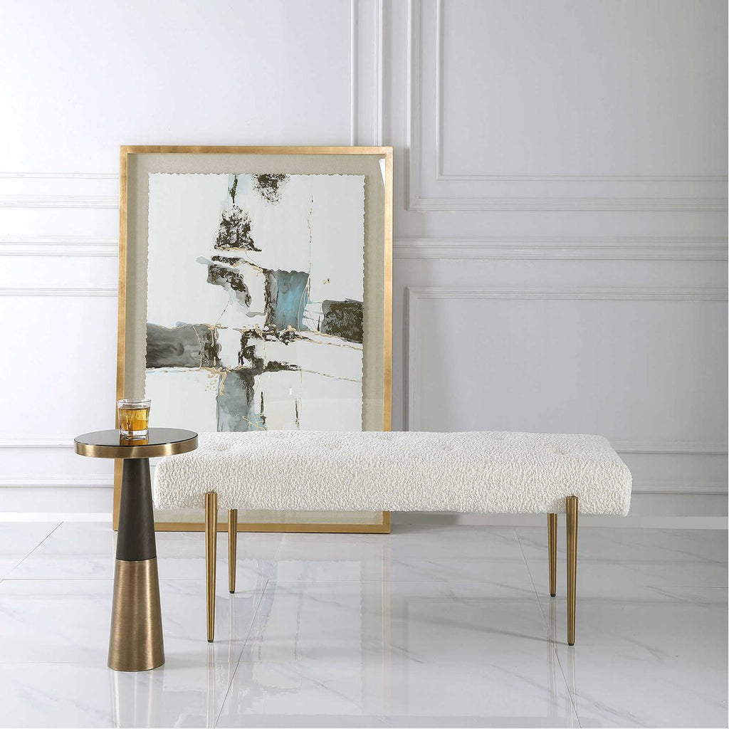 Uttermost Olivier White Bench