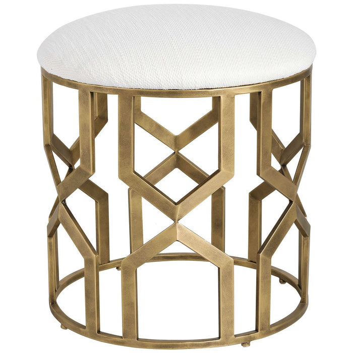 Uttermost Trellis Geometric Accent Stool