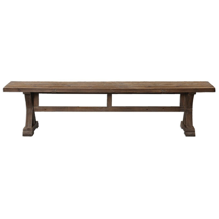 Uttermost Stratford Distressed Patina Bench