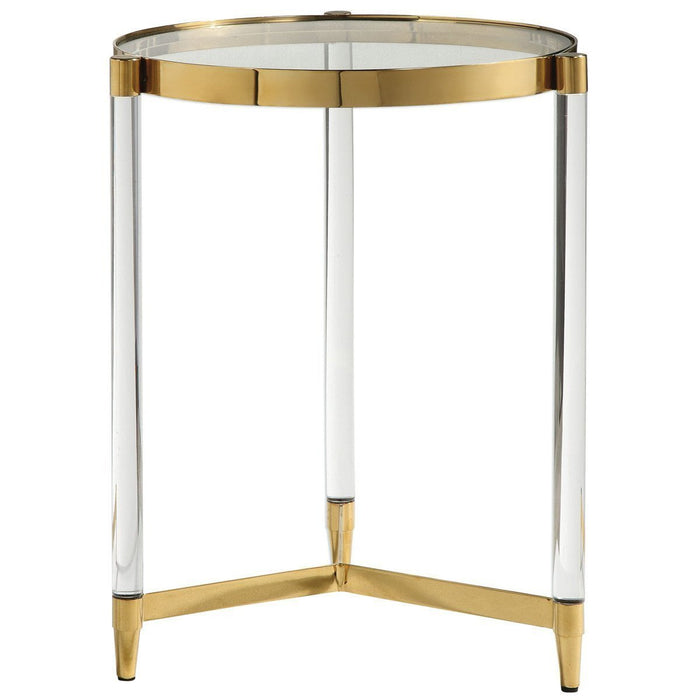 Uttermost Kellen Glass Accent Table
