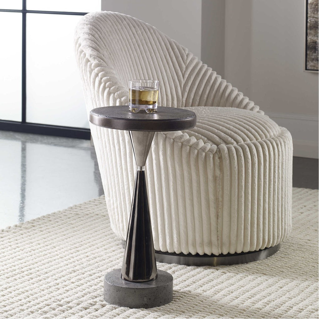 Uttermost Simons Concrete Accent Table