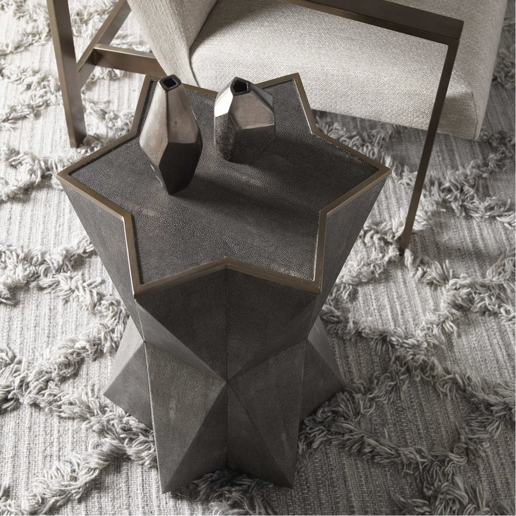Uttermost Capella Gray Accent Table