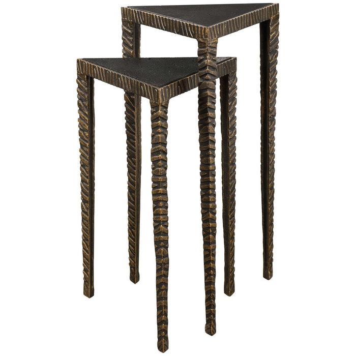 Uttermost Samiria Triangular Accent Tables, 2-Piece Set