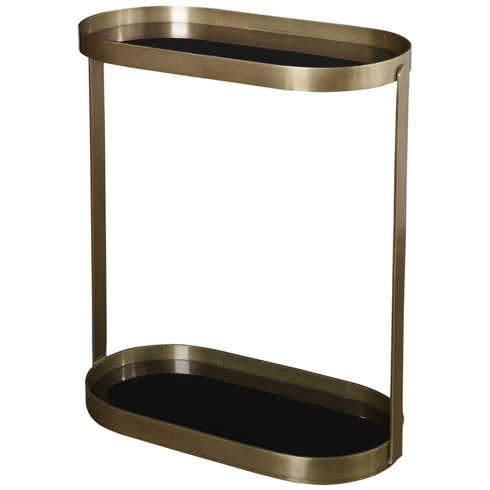 Uttermost Adia Antique Gold Side Table