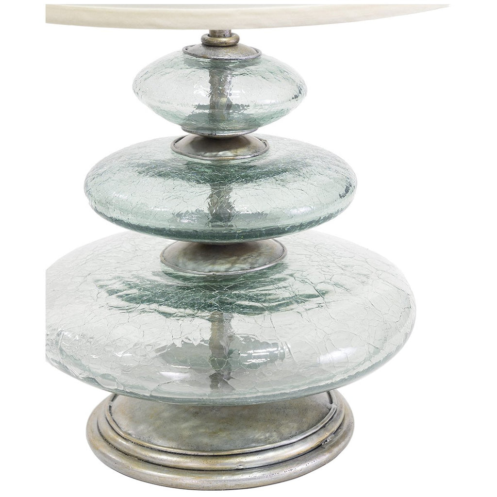 Palecek Glass Disc Table Lamp
