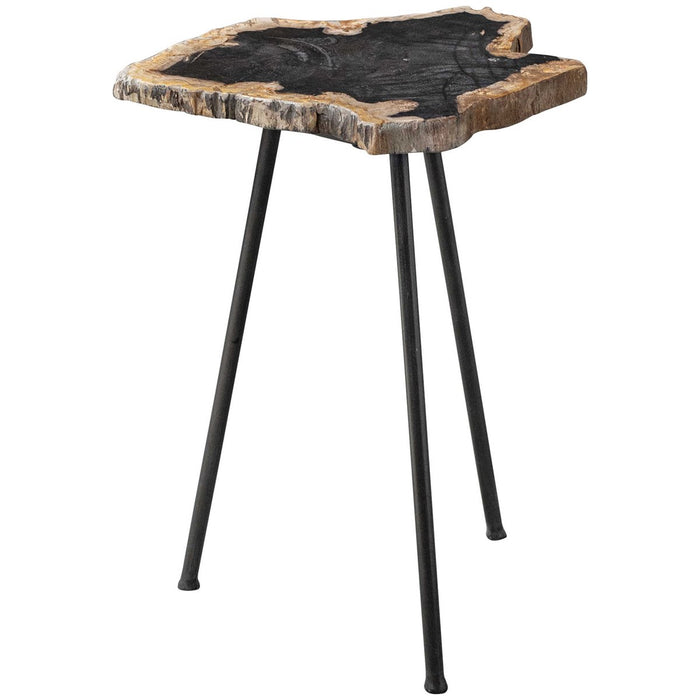 Uttermost Mircea Petrified Wood Accent Table