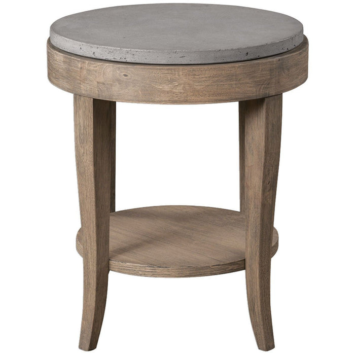 Uttermost Deka Natural Birch Wood Accent Table