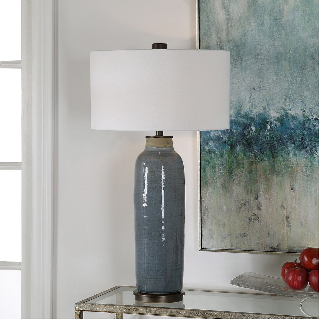 Uttermost Vicente Slate Blue Table Lamp