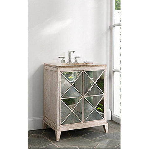 Ambella Home Escher Sink Chest - White