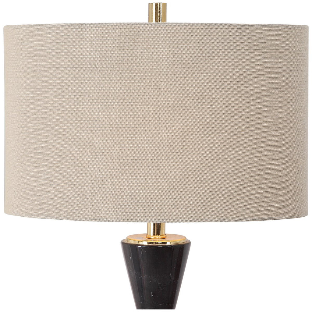 Uttermost Alastair Black Marble Table Lamp