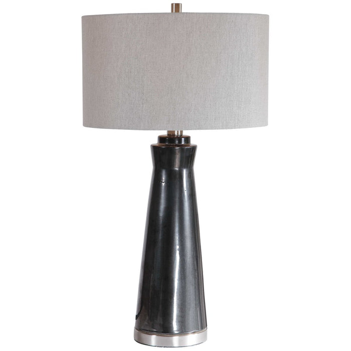 Uttermost Arlan Dark Charcoal Table Lamp
