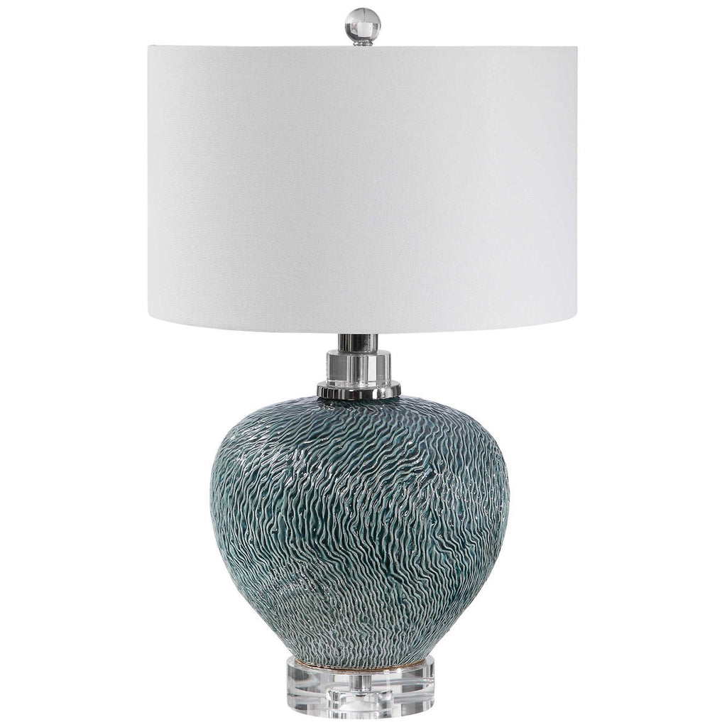 Uttermost Almera Dark Teal Table Lamp