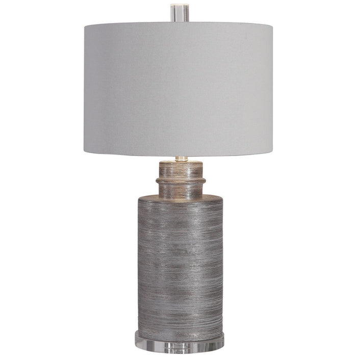 Uttermost Anitra Metallic Silver Table Lamp