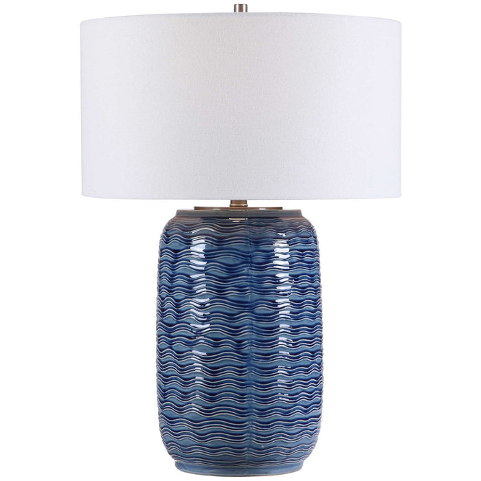 Uttermost Sedna Blue Table Lamp