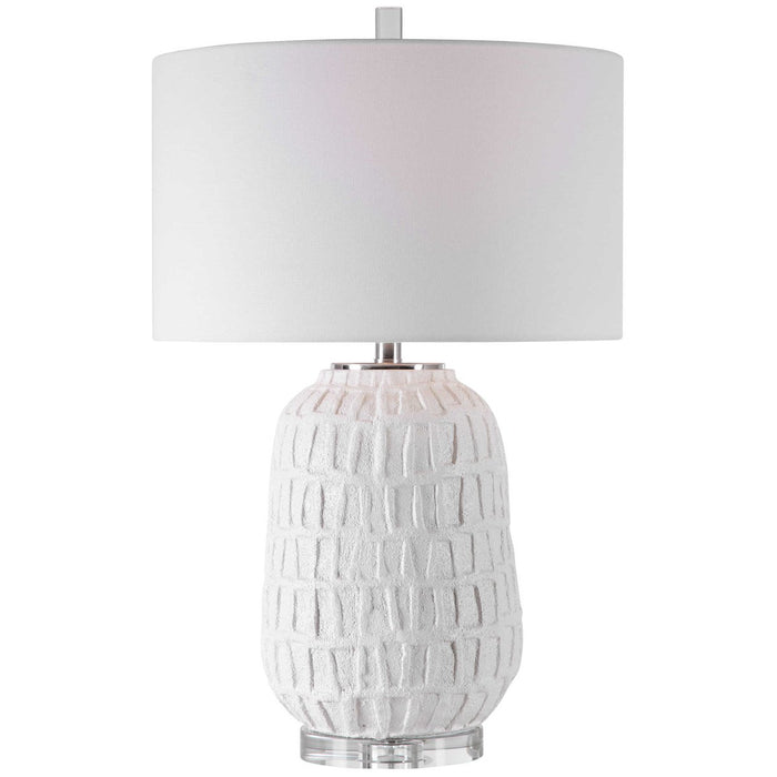 Uttermost Caelina Textured White Table Lamp