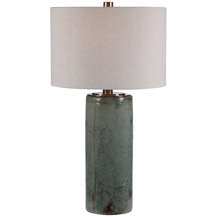 Uttermost Callais Crackled Aqua Table Lamp