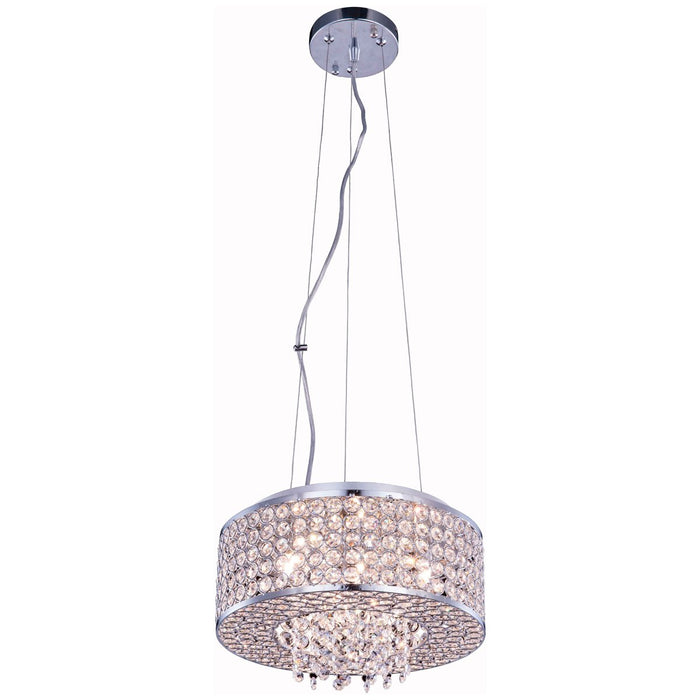 Elegant Lighting Amelie 4-Light Chrome Pendant