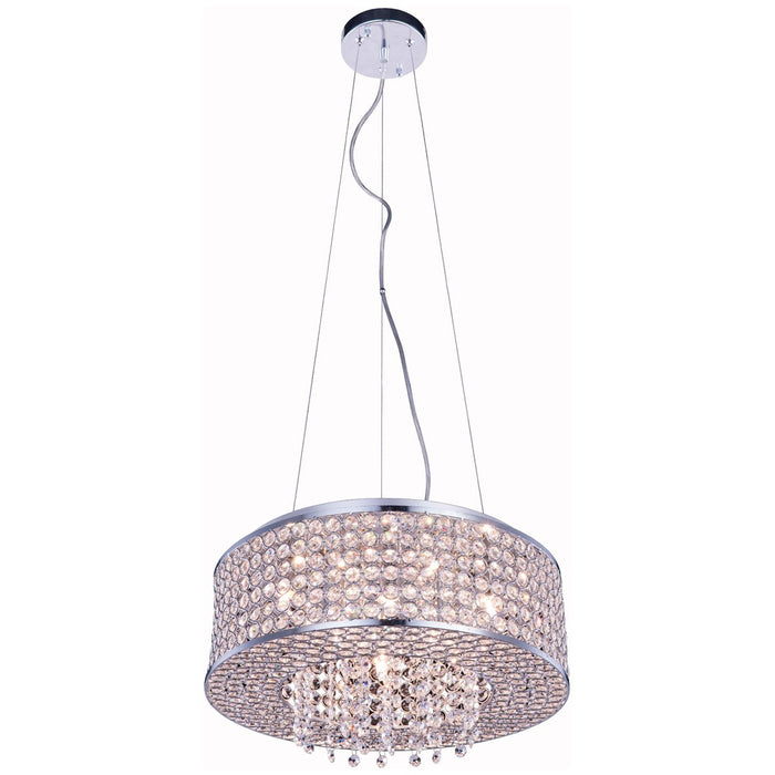 Elegant Lighting Amelie 6-Light Chrome Pendant