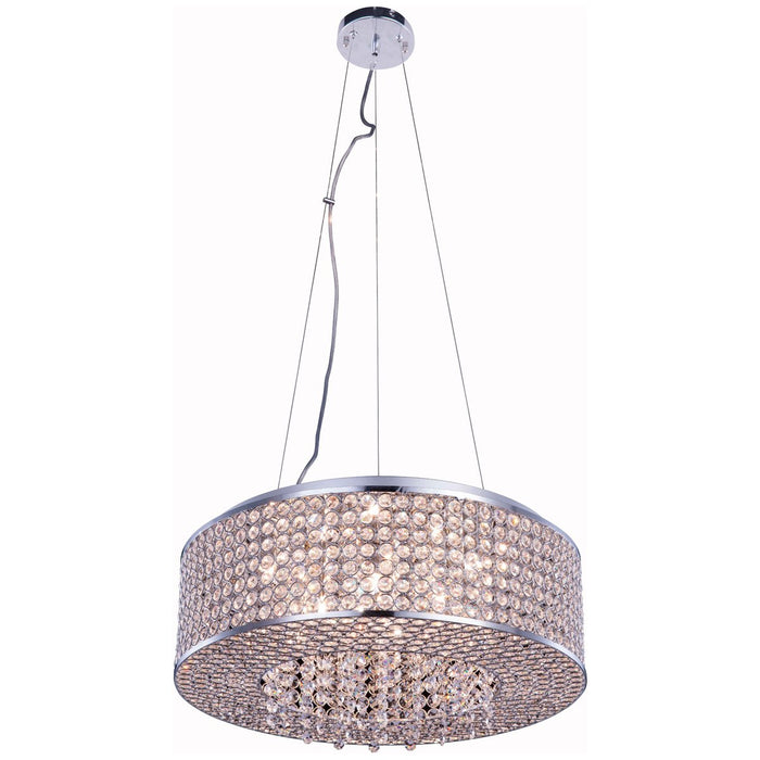 Elegant Lighting Amelie 8-Light Chrome Pendant