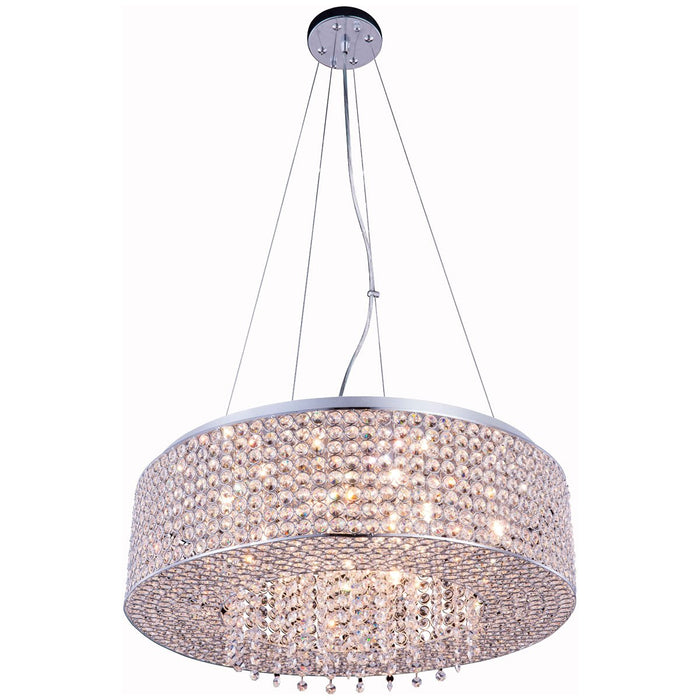 Elegant Lighting Amelie 10-Light Chrome Pendant