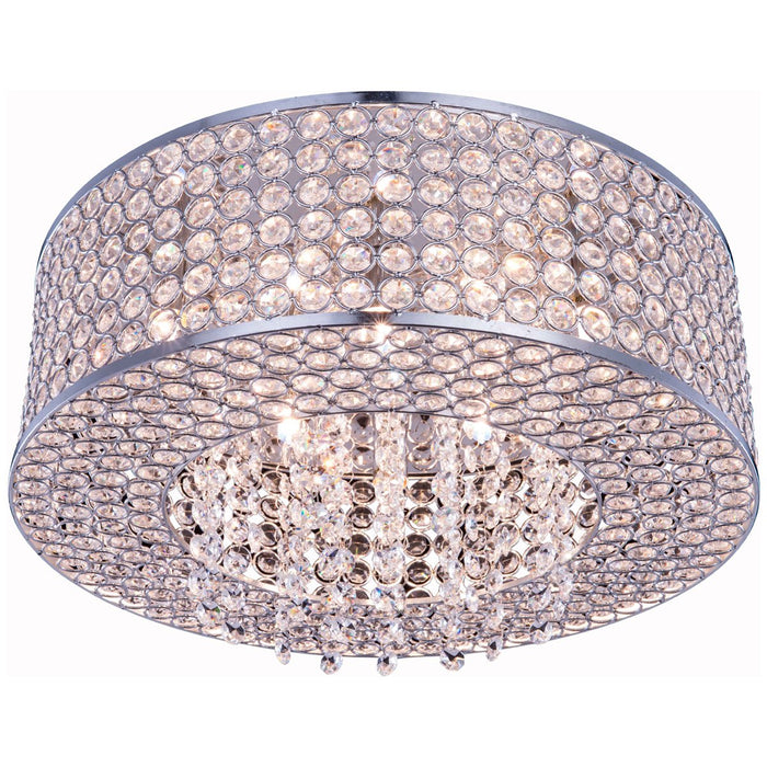 Elegant Lighting Amelie 6-Light Chrome Flush Mount