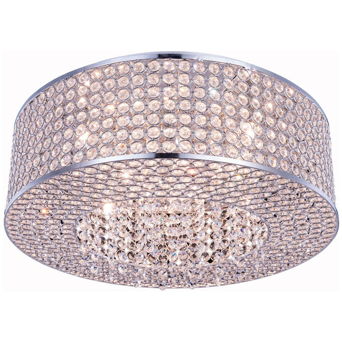 Elegant Lighting Amelie 8-Light Chrome Flush Mount