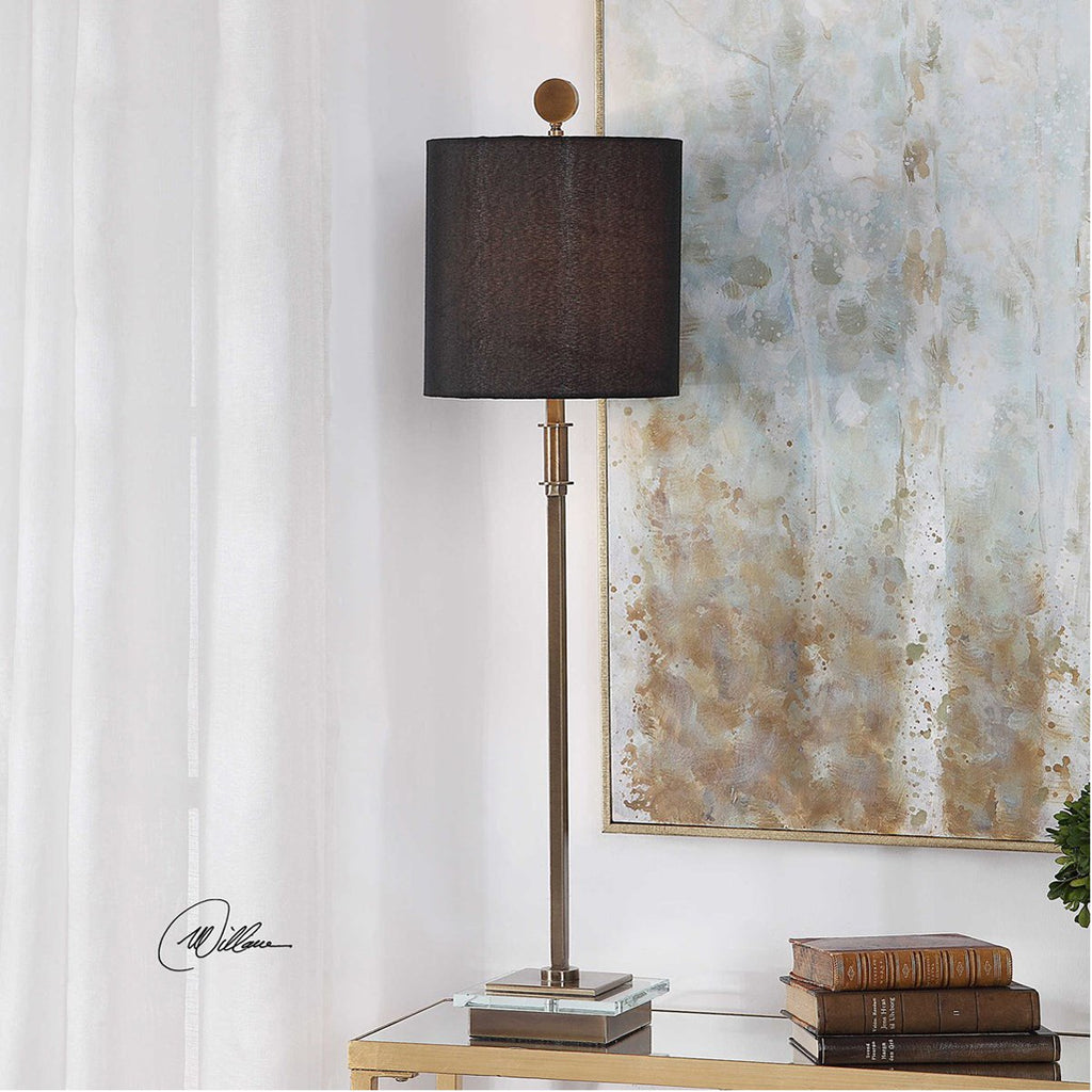 Uttermost Volante Antique Brass Table Lamp