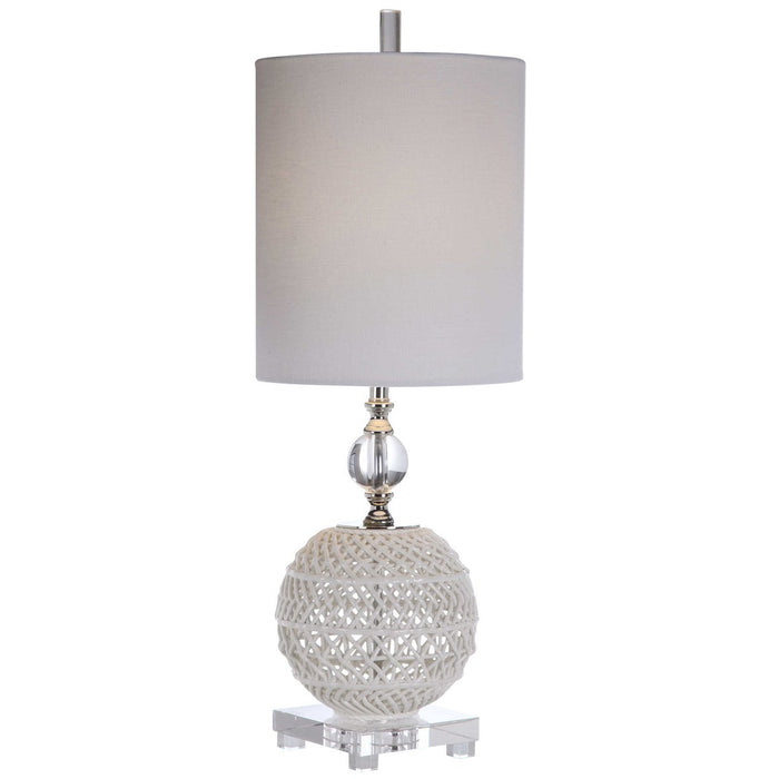 Uttermost Mazarine Open Ceramic Buffet Lamp