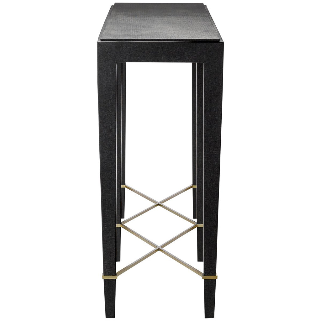 Currey and Company Verona Black Console Table