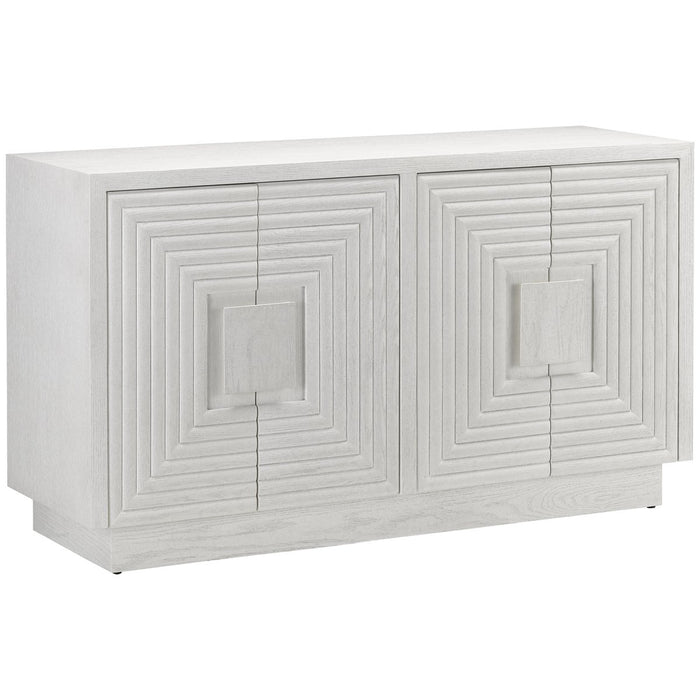 Currey and Company Morombe White Cabinet