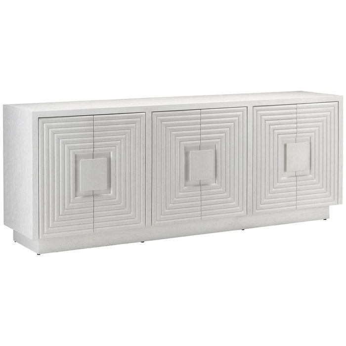 Currey and Company Morombe White Credenza