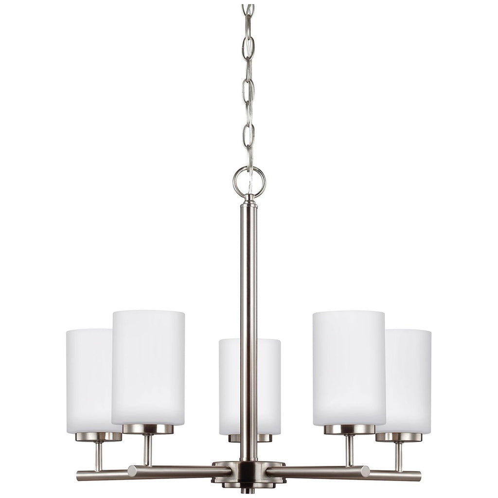 Sea Gull Lighting Oslo Contemporary Five Lights Chandelier