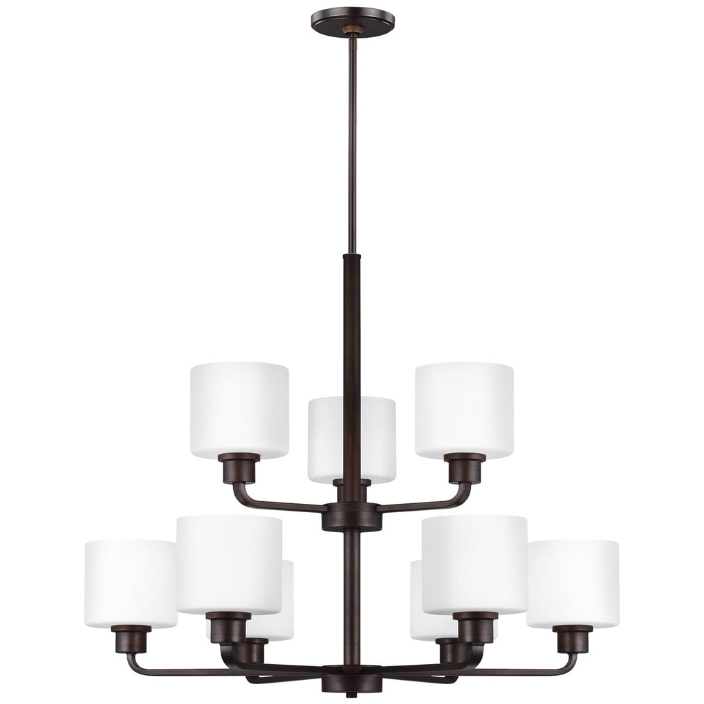 Sea Gull Lighting Canfield 9-Light Chandelier - 9.5W