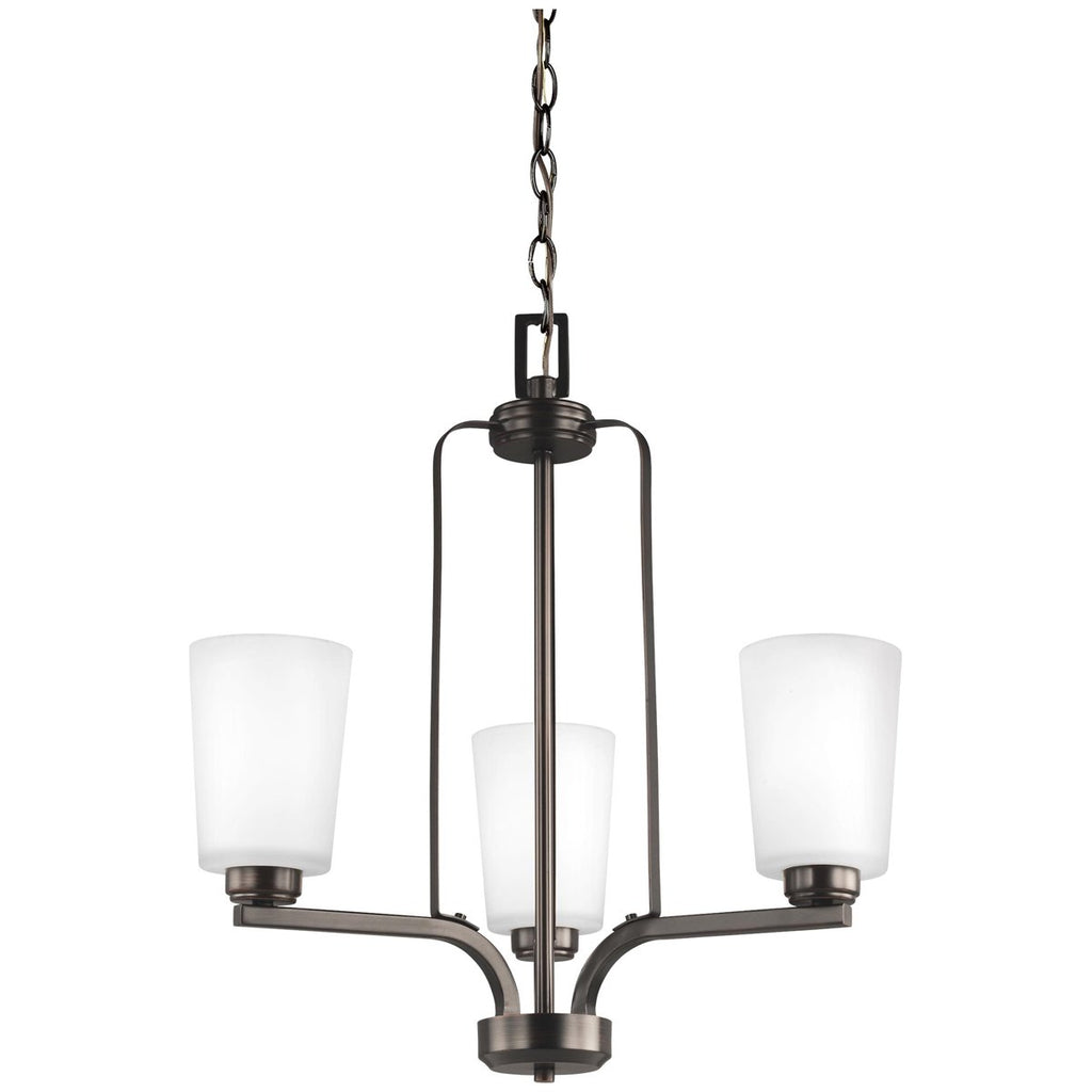 Sea Gull Lighting Franport 3-Light Chandelier - 9.5W
