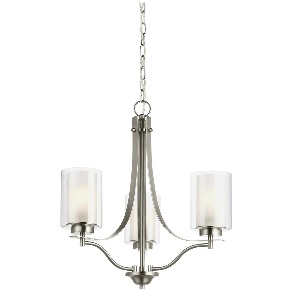 Sea Gull Lighting Elmwood Park 3-Light Chandelier - 9.5W