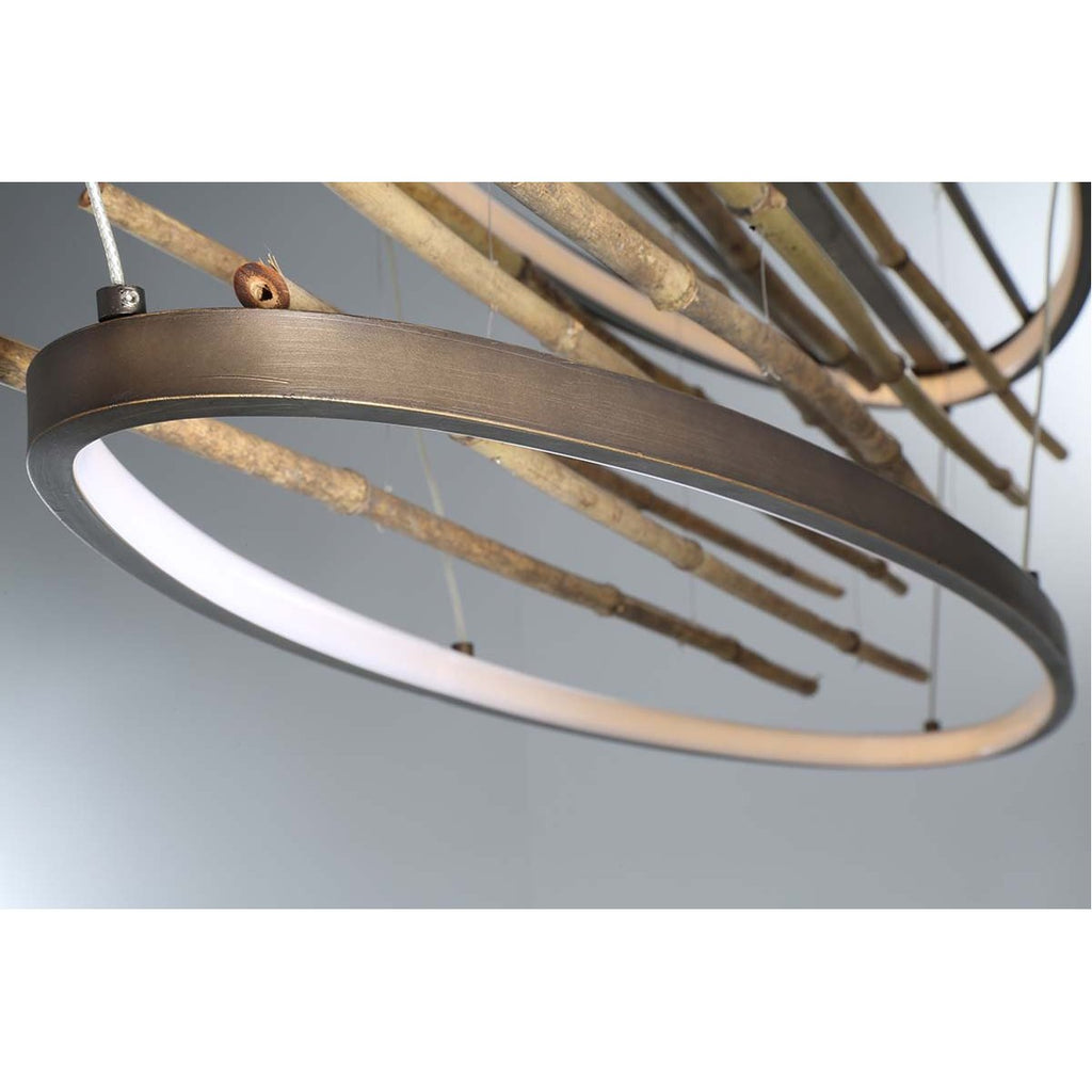 Eurofase Bobina LED Oval Chandelier