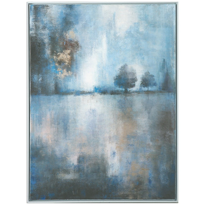 Uttermost Lake At Dusk Pale Blue Canvas Art