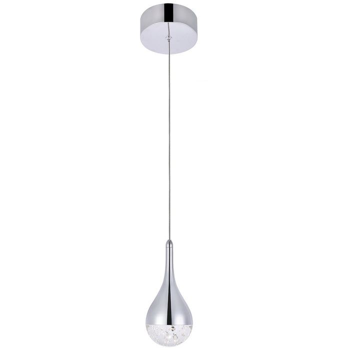 Elegant Lighting Amherst Led 1-Light Pendant in Chrome